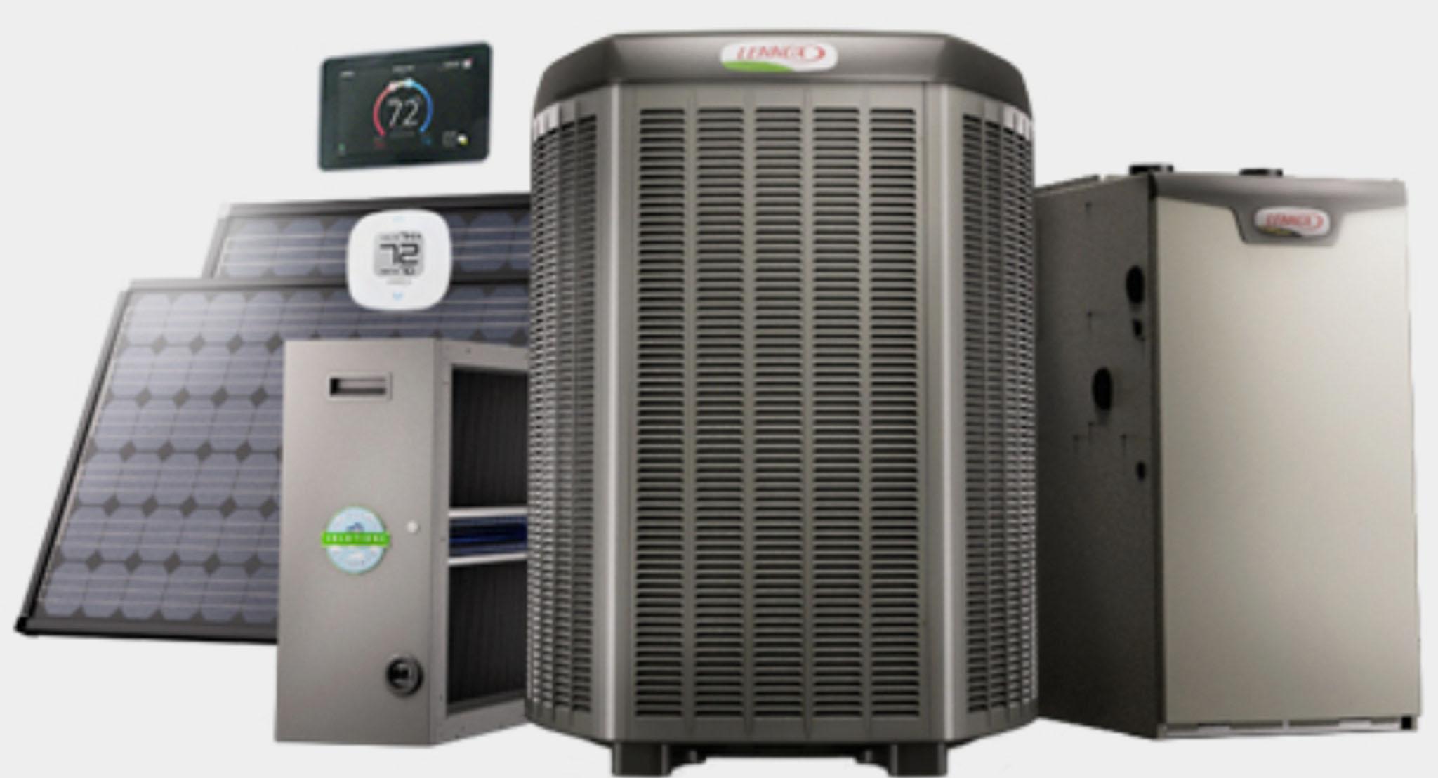 Lennox central air conditioner model number goodman for Lennox program
